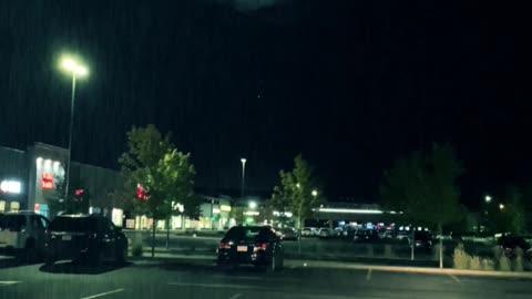 Night lightning in slow motion