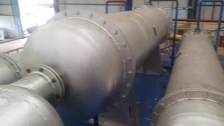 Installation of a pyrolysis system in southern Brazil.