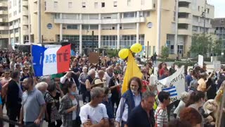 Massive Protests Against Vaccine Passports in France 7/17/21