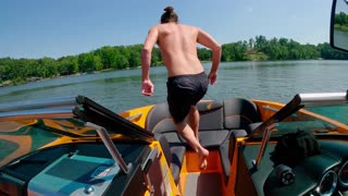 Jump from the boat