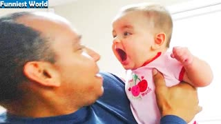 Funny Baby Slaps on Parent's Face ...