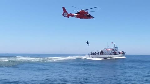 Coast Guard medevacs man from fishing vessel near Newport