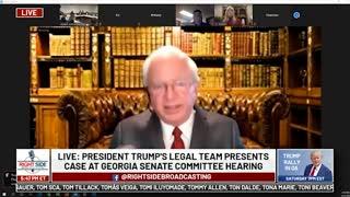 John Eastman (#12) at GA Senate Committee Hearing on Allegations of Election Fraud. 12/03/20.