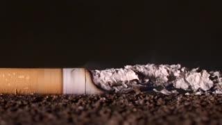 cigarette burning