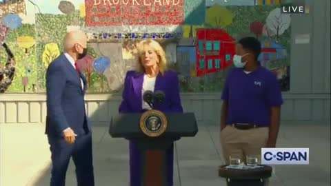 Joe Biden Wanders Around at Speaking Event