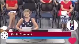 9 Year Old Blasts School Board about BLM in Schools
