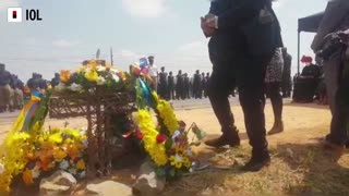Officials pay tribute to Joburg Mayor Jolidee Matongo with wreath-laying ceremony