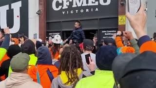 AUSTRALIAN LOCKDOWN: Construction Workers Rally
