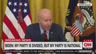 Biden CREEPILY Whispers to the Press During Infrastructure Speech