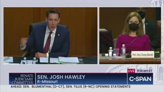 Sen. Hawley ERUPTS On Media and Democrats to Their Faces For Attacking ACB for Her Faith