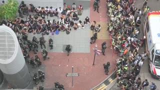 Las protestas volvieron hoy a las calles de Hong Kong