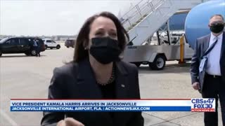 Kamala Erupts in Laughter When Asked If She Plans to Visit the Border