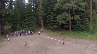 Batted Softball Hits Drone Recording Game