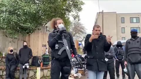 Portland Antifa Sets Up New 'Autonomous Zone' With Armed Guards