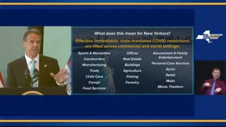 New York Gov.Cuomo says all state's COVID-19mandates are lifted, effective immediately.