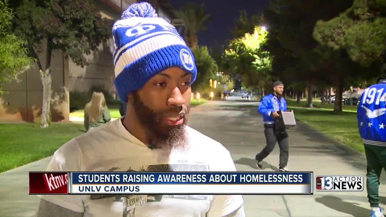 UNLV students raise awareness about homelessness