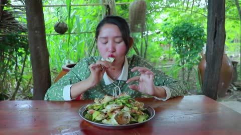 Blue Crab Stir Fry Cooking Recipe - Cooking With Sros