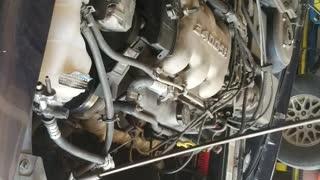 Engine Tries to Escape Car