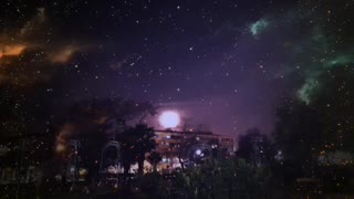 Noche de luna de sangre en Santiago de Chile