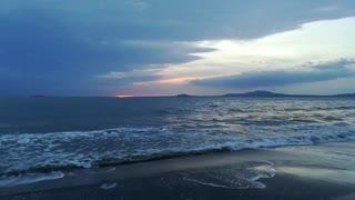 Dark blue and fire orange sunrise