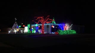 It's Christmas time pretty baby- light show
