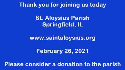Mass on February 26, 2021