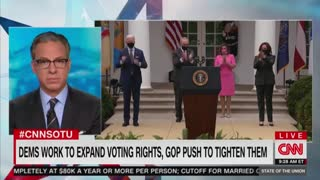 Stacey Abrams And Jake Tapper Discuss Voting Fraud Bills