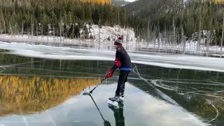 A Great Quake Lake Skate
