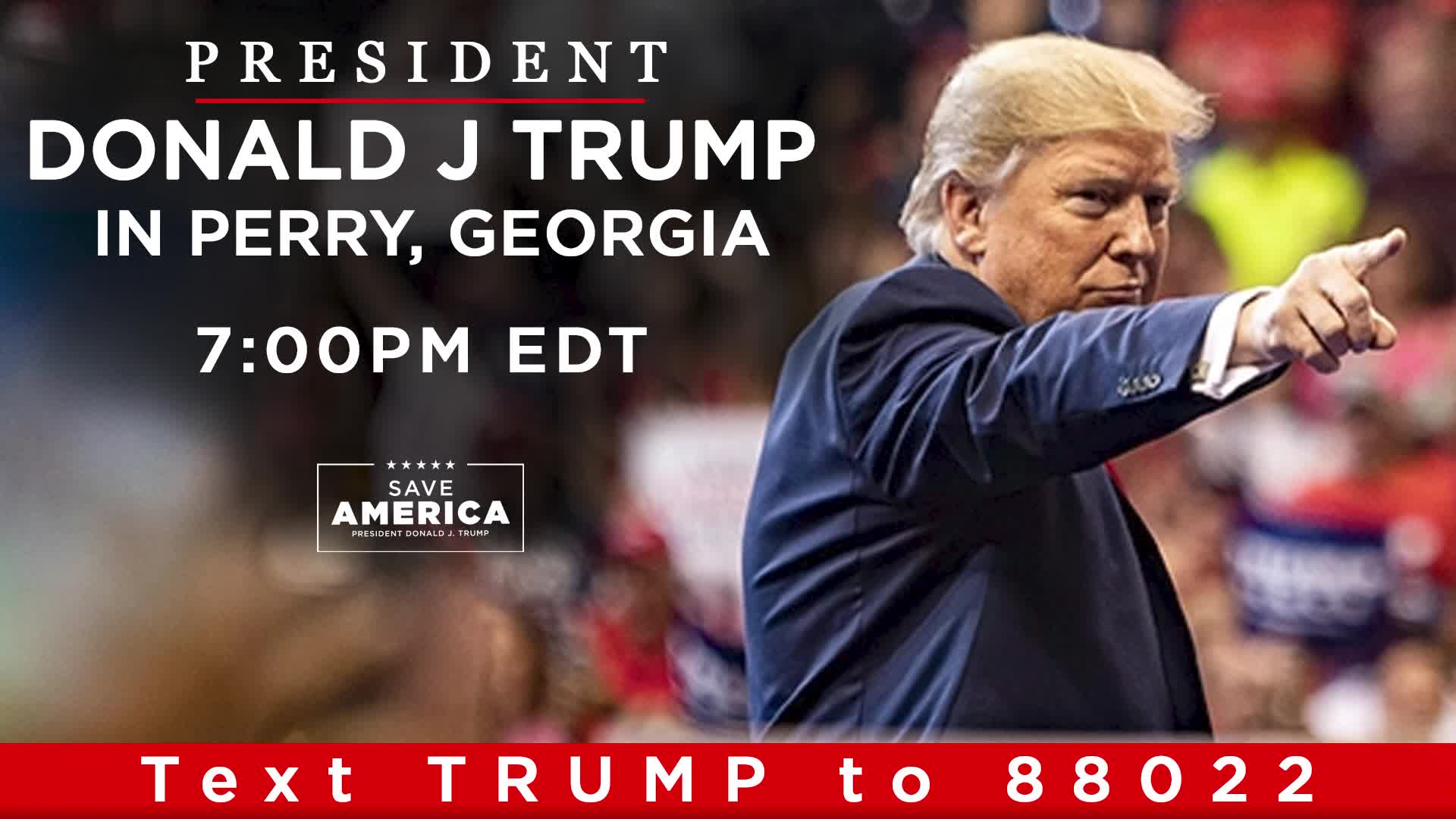 Live: President Donald J. Trump In Perry, GA!! - Must See Video