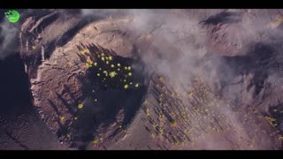 aerial view of volcanic hd