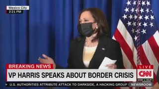 Kamala Harris Laughs Again When Asked About Visiting the Border
