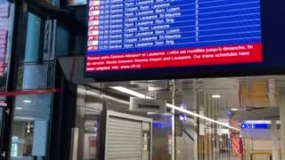 Train Station at the Geneva Airport