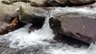 Small Waterfall Slow-Mo Near Gatlinburg, TN