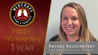 Happy 1 year work anniversary to Rachel