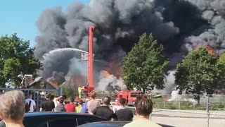 Massive fire breaks out at industrial estate in the Netherlands