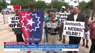 Biden signs bill into law making Juneteenth