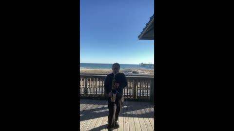 Happy birthday Song Sax Cover Beach Performance