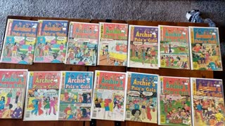 Archie's Pals' n 'Gals comic books I bought from eBay. Archie Comics.