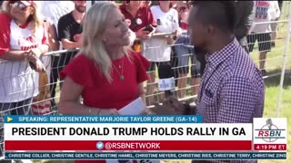 Full Interview w/ Rep. Marjorie Taylor Greene at Save America Rally in Perry, GA 9/25/21