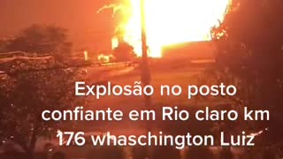 Gas station explodes in Brazil
