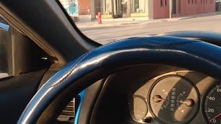 Porta-Potty Driving Past