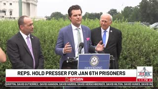 GOP Reps Press Conference After Being Denied Entry to Prison Where Jan. 6 Prisoners Being Held