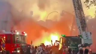 Riots in Santiago, Chile.
