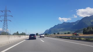 Highway in Switzerland summer 2020