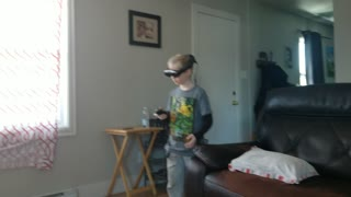 Son playing on magic leap