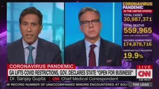 Sanjay Gupta Blasts Georgia's Decision To Lift Remaining Coronavirus Restrictions