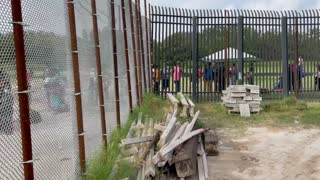 CAUGHT ON CAMERA: Another Massive Line of Illegals Being Let Across Border