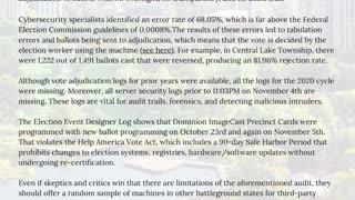 Unmasked, election fraud evidence