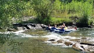 Clear Creek in Golden, CO - Tubing