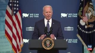 """COVID TYRANNY - Biden: We need to go """"door-to-door, literally knocking on doors"""" to check people"""